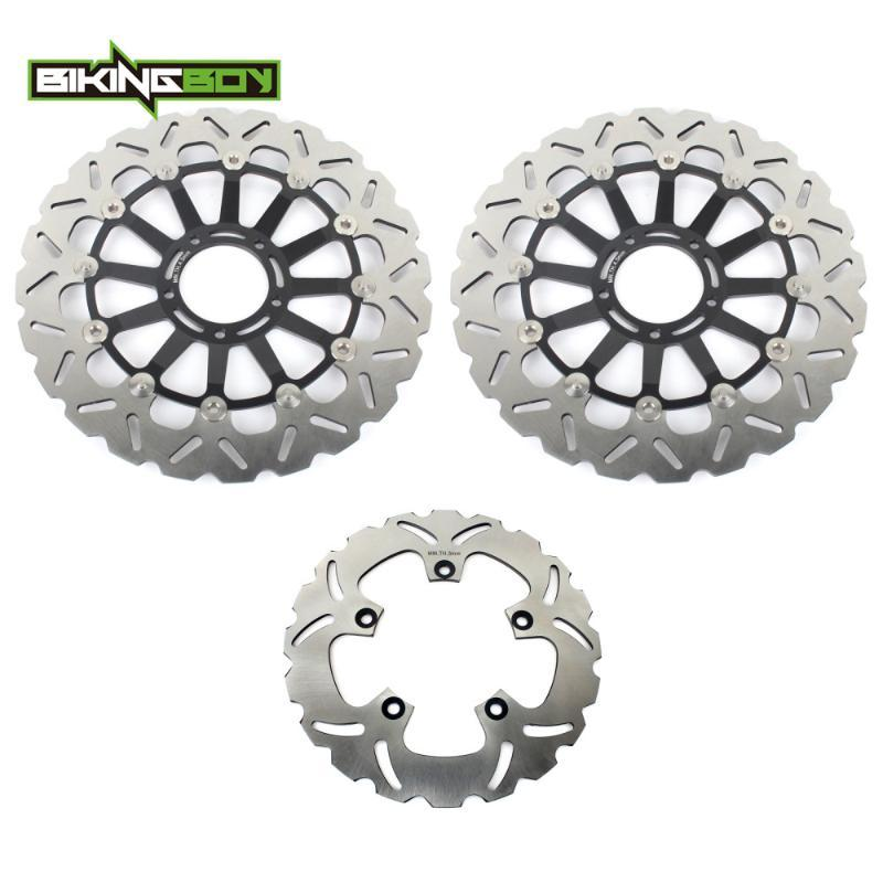 BIKINGBOY Front Rear Brake Discs Rotors Disks for 989 Desmosedici RR D16RR 2007 2008 DESMOSEDICI 1000 RR 08 09 Motorcycle