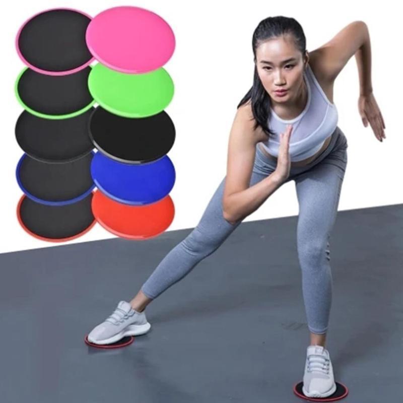 Yoga Spor Karın Çekirdek Eğitim Egzersiz Ekipmanı için Diskler Slider Spor Disk Egzersiz Sürme Plate süzülüyordum