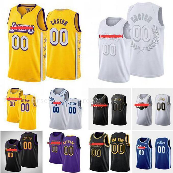 2020 Benutzerdefinierte Männer Jersey LosAngelesLakers23James Jeder Name Anzahl Swingman Basketball Jersey