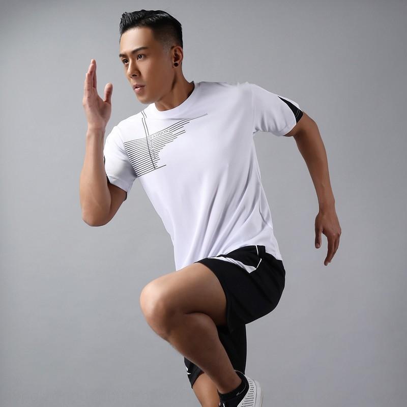 sportswear aptidão do verão de manga curta roupas de secagem rápida dos homens terno esportes dos homens soltos lazer sportswear grande terno tamanho