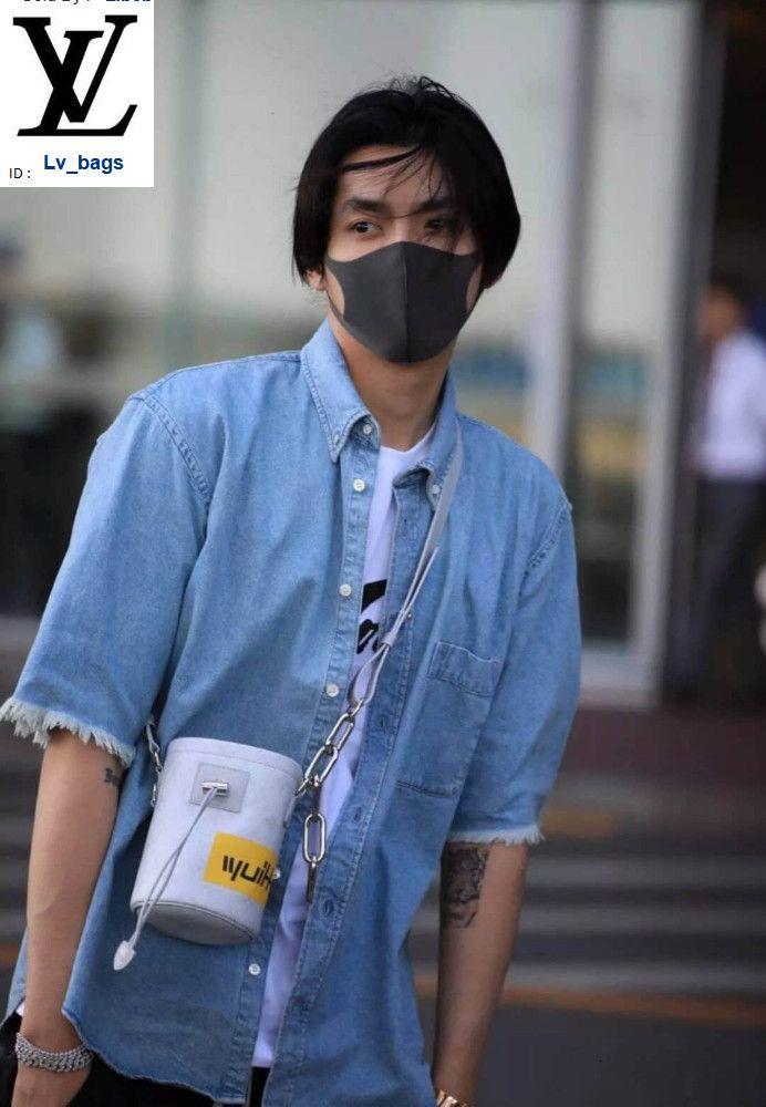 Yangzizhi New Chalk Nano Handbag Chain Strap Small Bucket Bag M44631 White Handbags Bags Top Handles Shoulder Bags Totes Evening Cross Body