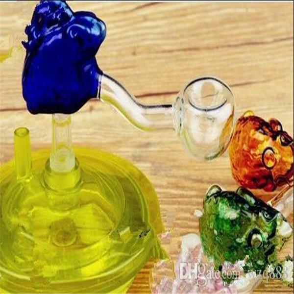 accesorios hookah [rana] cóncava pote al por mayor de vidrio pipas de agua Tubos de petróleo quemador El vidrio soluble plataformas petrolíferas más totalmente gratis