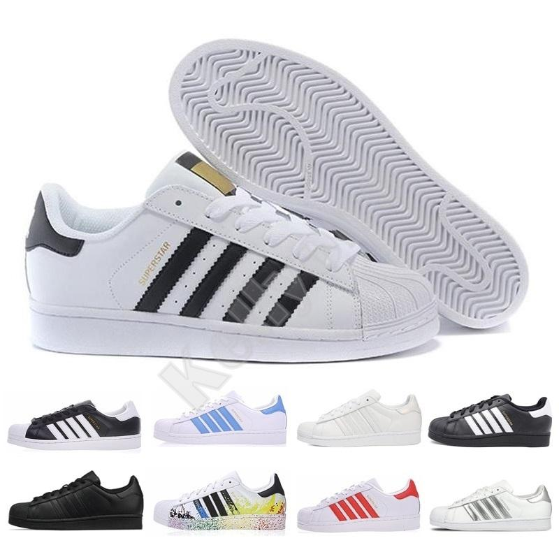 NOVO Originals Superstar Branco Holograma Iridescent júnior Superstars 80 Orgulho Designer Shoe Super Star Homens Mulheres Sapatos casuais 36-44