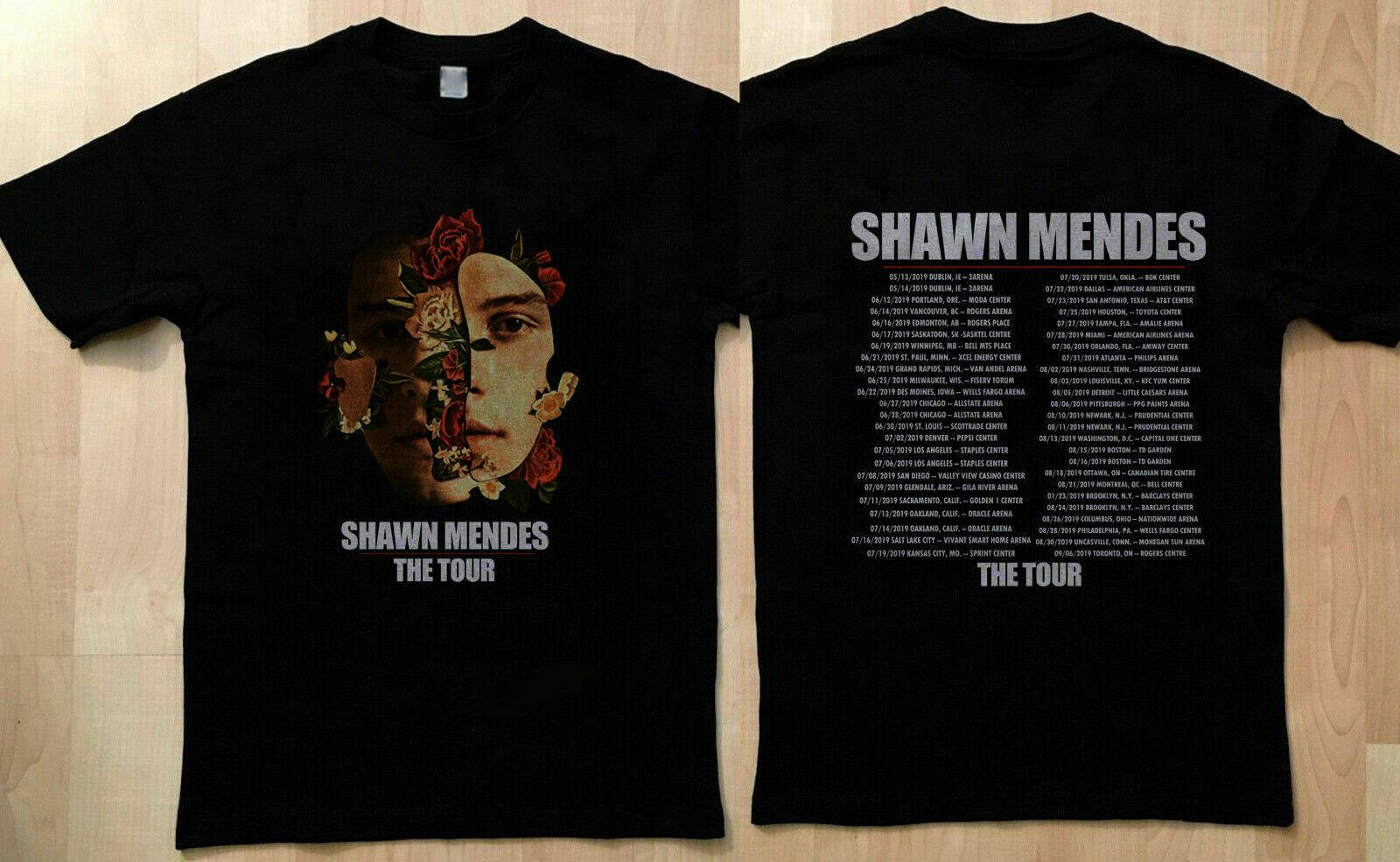 SHAWN MENDES The Tour 2020 T-SHIRT Limited All Size Tee Normal Short Sleeve Cotton T Shirts Newest 2020 Fashion Top Tee