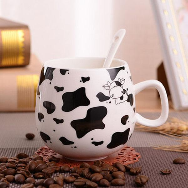 2020 9 styles COFFE MUG 300ml European style coffee cup set bone china coffee cup cow bird letter paint Coffee Cup mug