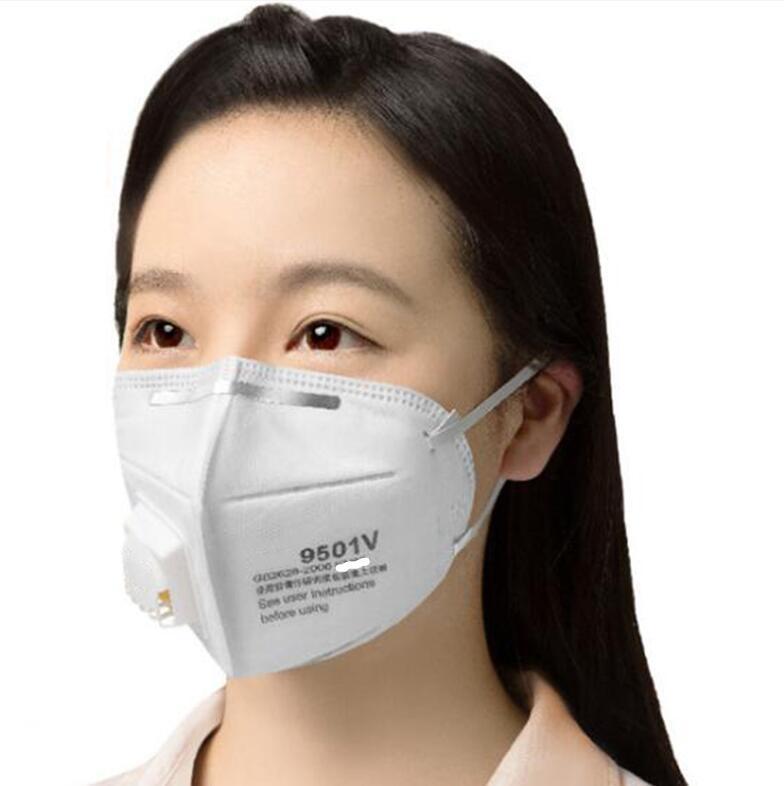 24 horas nave! Máscaras faciales 9501 + / 9502 + Anti polvo máscara de la máscara de protección a prueba de polvo 9551/9552 V 9010CN PM2.5 protectora 9541V / 9542V indivual Paquete