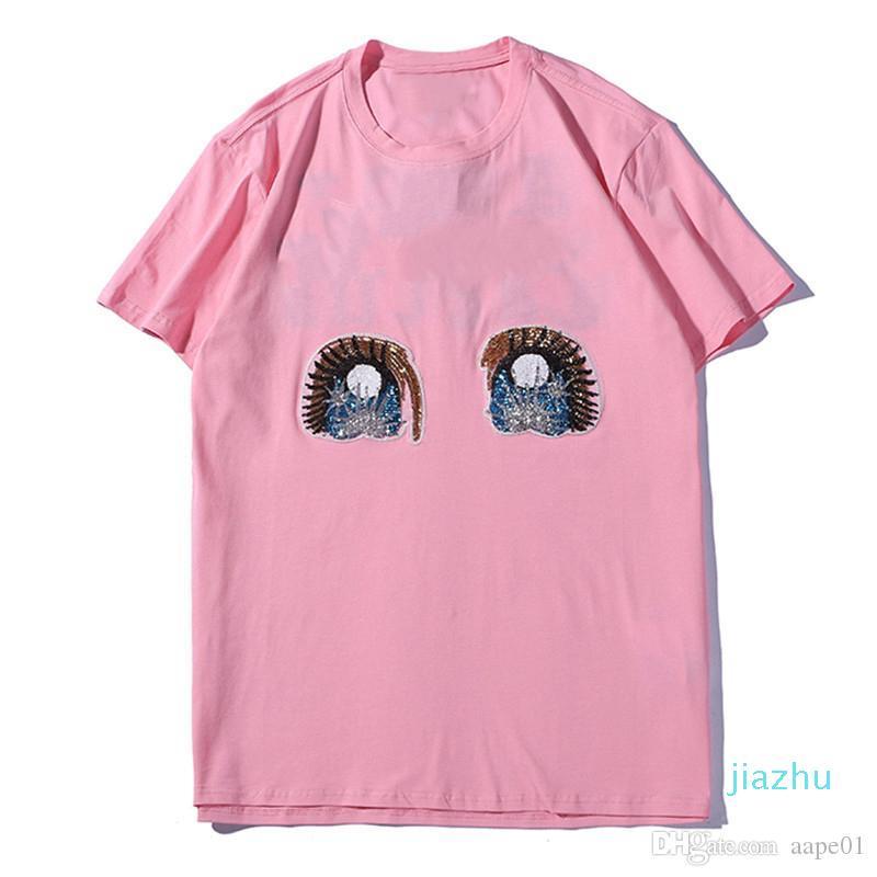 Hot Sale Famous Brand Men Designer T Shirt 20SS Men Women High Quality Streetwear Short Sleeve Rabbit Fashion Mens Designer Tees S-2XL