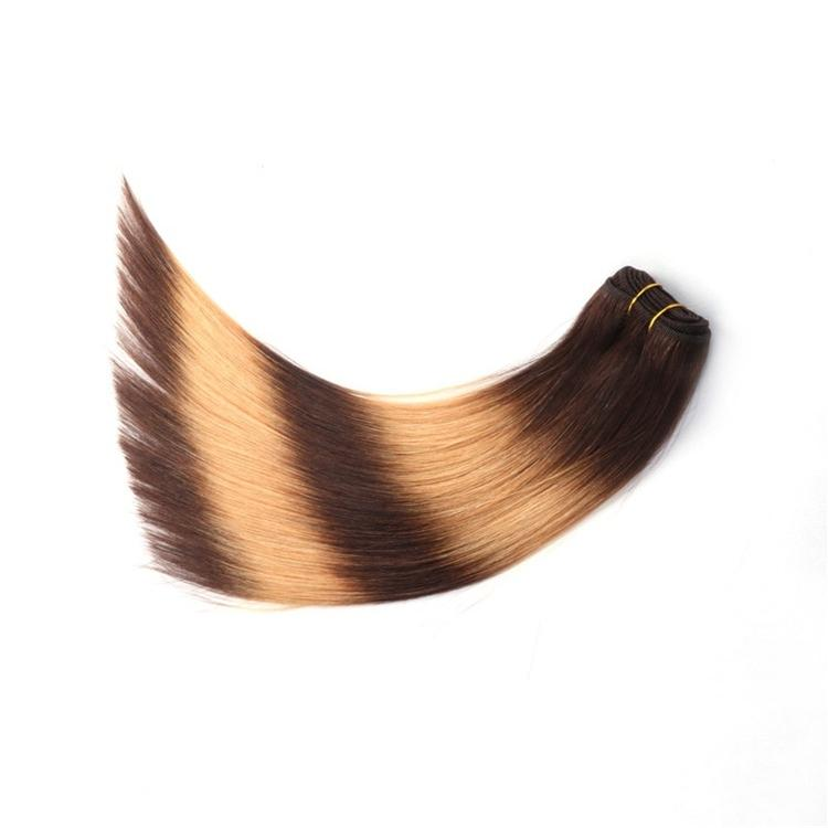 make order super double drawn straight hair color#4/27/4/27/4 5 stone unprocessed virgin remy human hair bundles cuticle aligned hair