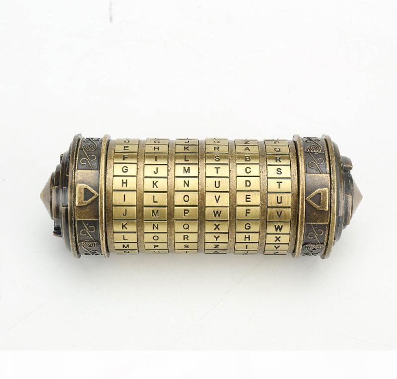 Код да Винчи Cryptex алфавит замок Обручальное кольцо Box - День Святого Валентина Рождественские подарки Girlfriend Boyfriend подарок на день рождения