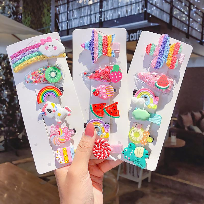 6pcs / set Clip Accessori Nuovo Kawaii principessa Children forcine bambini dei capelli Barrettes Pin Ggirls Hairclip headdress