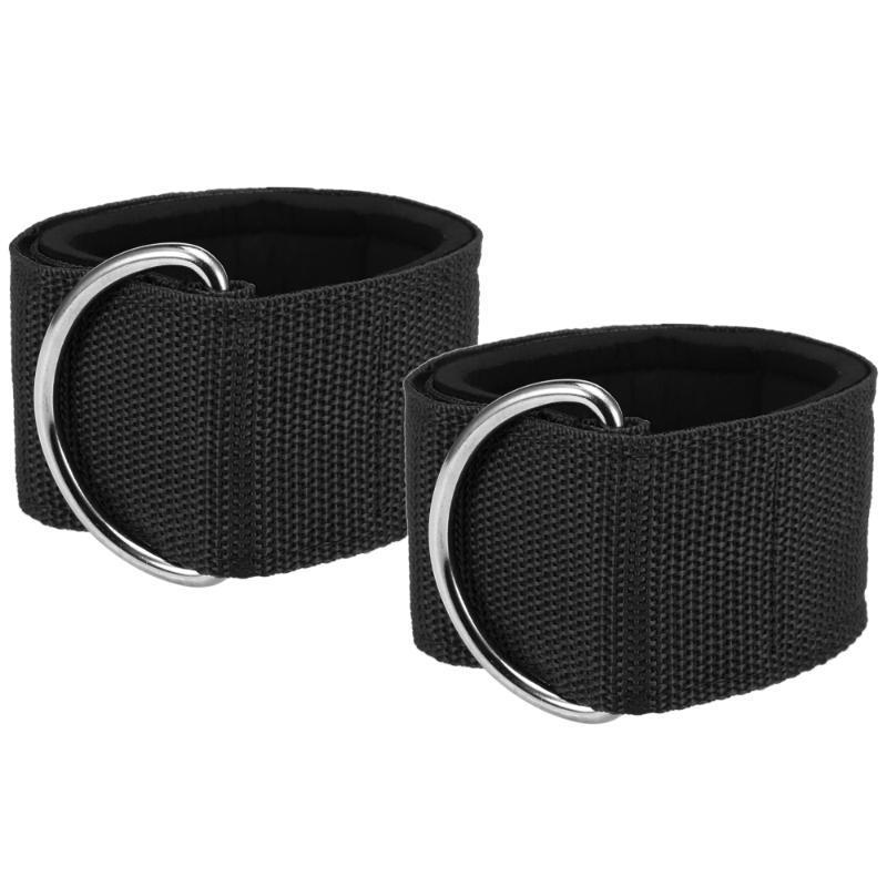 Fitness Ankle Straps for Cable Machines Ankle Cuffs with Carry Bag –Padded Ankle