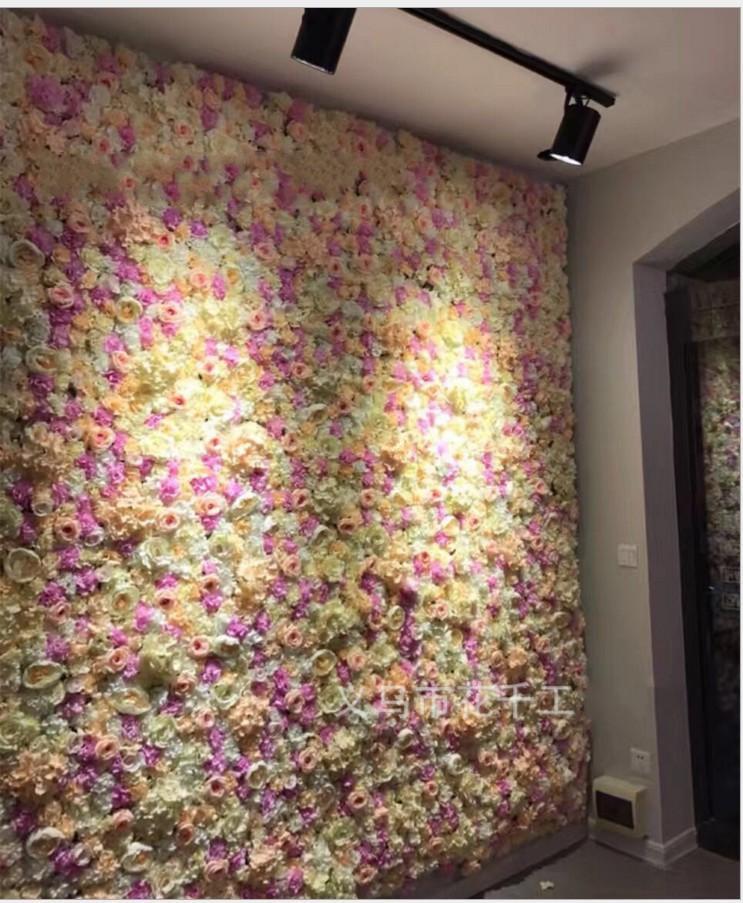 fiore di parete di rosa di seta trafori crittografia muro floreali sfondo fiori artificiali di nozze creativo libero di trasporto tappa