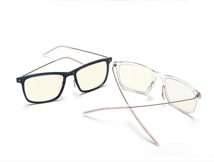 Xiaomi Glasses women's anti-Blue-ray goggles large full frame TR90 transparent frame glasses men's web Red