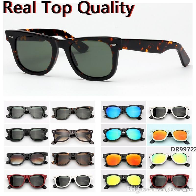 lunettes de soleil ray mode monture en acétate modèle farer avec le soleil réel des lentilles en verre UV400 lunettes étui en cuir libre, des paquets, tout! DR99722