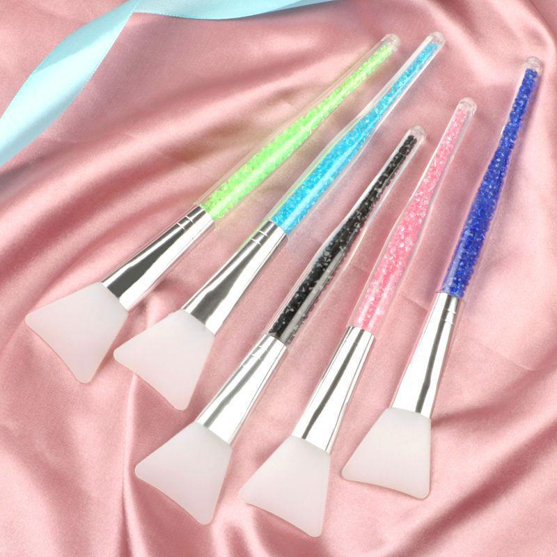 Профессиональные маски кисти мягкие силиконовые Уход за кожей Кисть несколько цветов маска Mud Mixing кисти Rhinestone Ручка Косметические инструменты