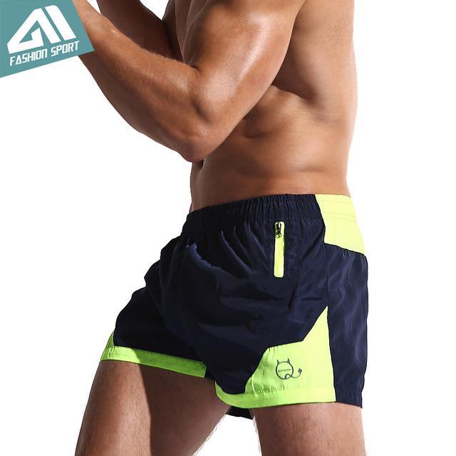 Surf pas cher shorts de plage Aimpact New Fast Board Shorts de Surf Dry Hommes Doublure Mesh Liner Patchwork Plage Sport Natation court Workout
