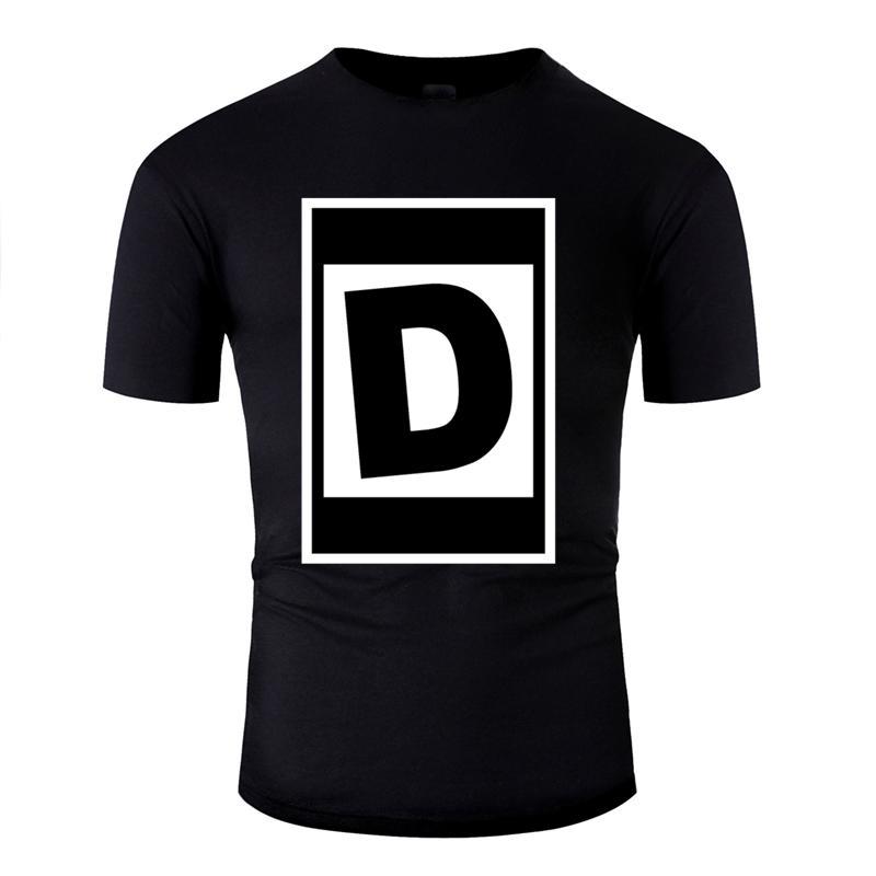Casual divertida del humor de Calle D Carta camiseta más el tamaño 3XL 4XL 5XL Kawaii camiseta de los hombres famosos Comics Hiphop Hombre