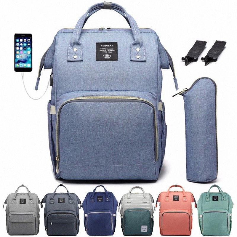 Baby Diaper Bags with Warm-Bag USB Port Mummy Backpack Waterproor Nursing Bag Large Maternity Mommy Bag Stroller Hooks Handbag 6Yia#