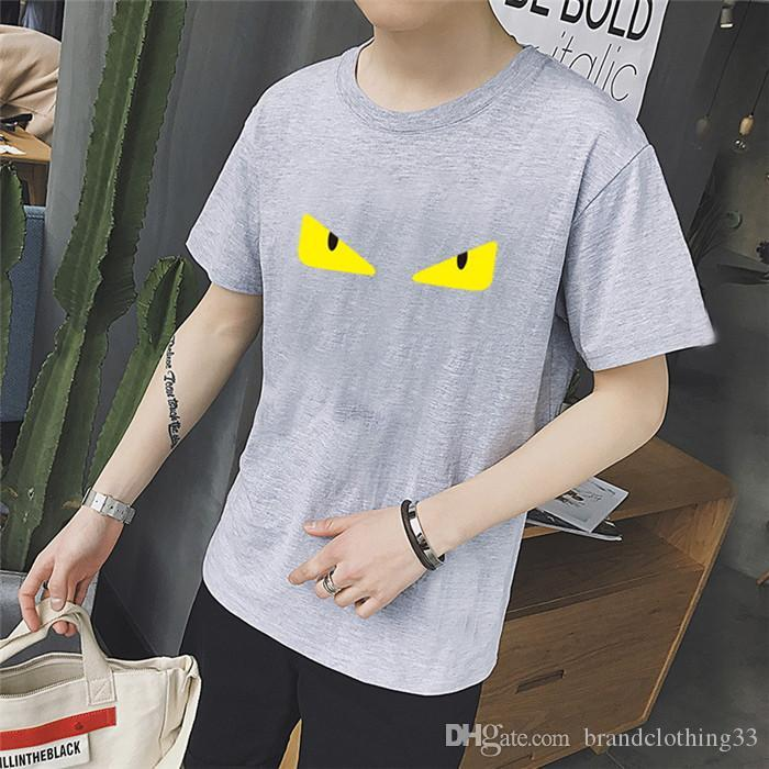 Cool Summer mens magliette o-collo manica corta degli uomini amanti paio occhio di stampa l'uomo maglietta di stampa dei vestiti più il formato S-3XL