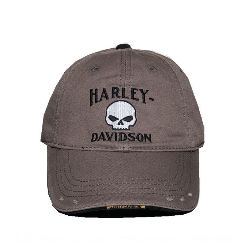 Alta calidad gorro puntiagudo Harley lavado de béisbol de algodón del agujero de béisbol enarboló el casquillo para los hombres 2QV5t