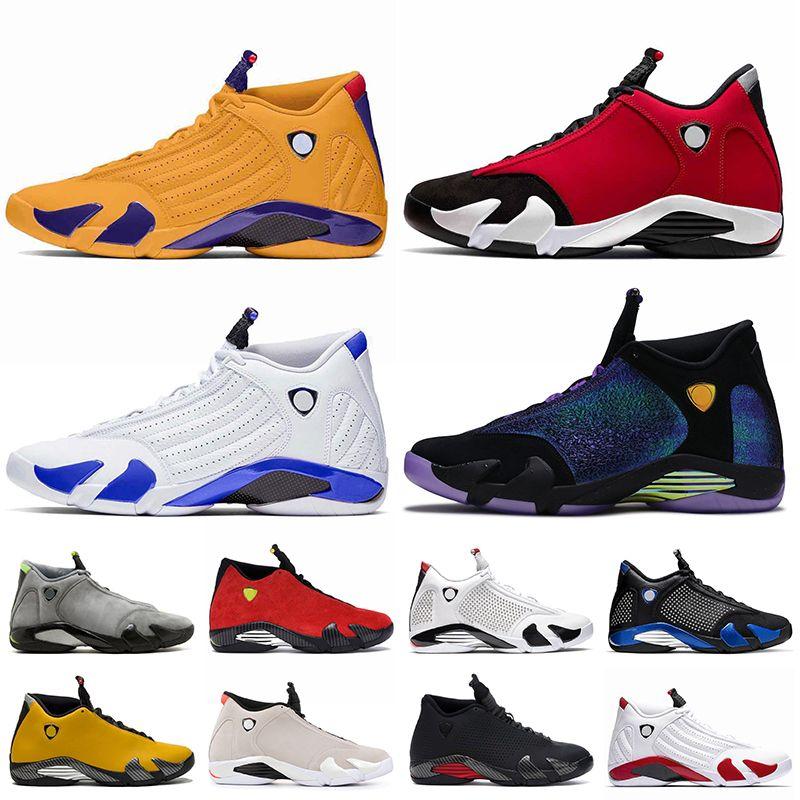 Basketbol ayakkabıları ayakkabı retro 14 Miss Kobe Lakers 14 Gym Red 14s Erkek basketbol ayakkabı boyutu 13 üniversite altın hiper kraliyet bred