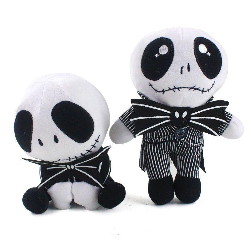 2025 cm crânio bonito em pé pesadelo antes do Natal Jack Devil Boneca Jack Devil Devil Devil Boneca de presente de brinquedo