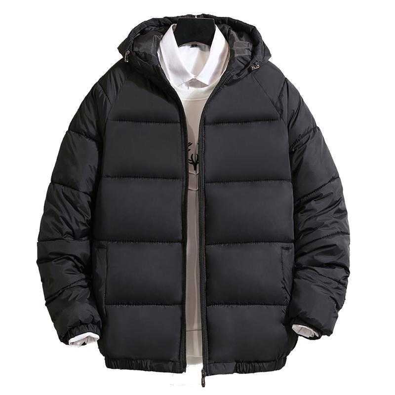 2020 neue wasserdichte Winterjacke Herren Hoodied Stickerei Parka Men warmen Wintermantel verdicken Zipper Herren Jacken Solid Color
