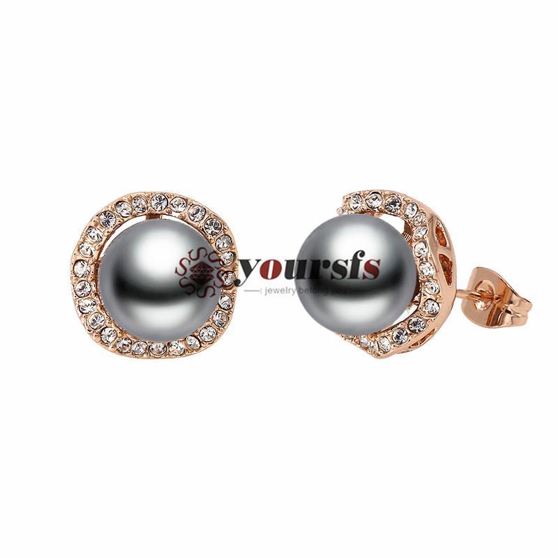 Yoursfs Mujeres Joyería de boda 18 K Pendientes chapados en oro Pendientes Ear Clip Accesorios de Moda