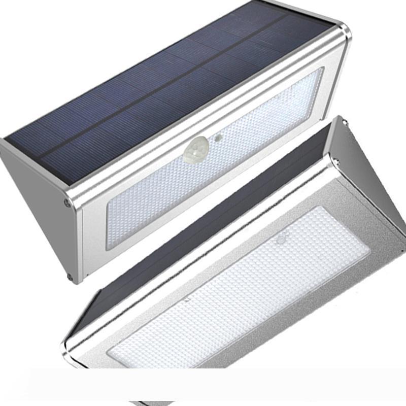 Aluminium LED-Solarlicht Bewegungs-Sensor 48 LED Super Bright 1000lm 4 Modi Außen Garten Sicherheit Wasserdichte Wandleuchte