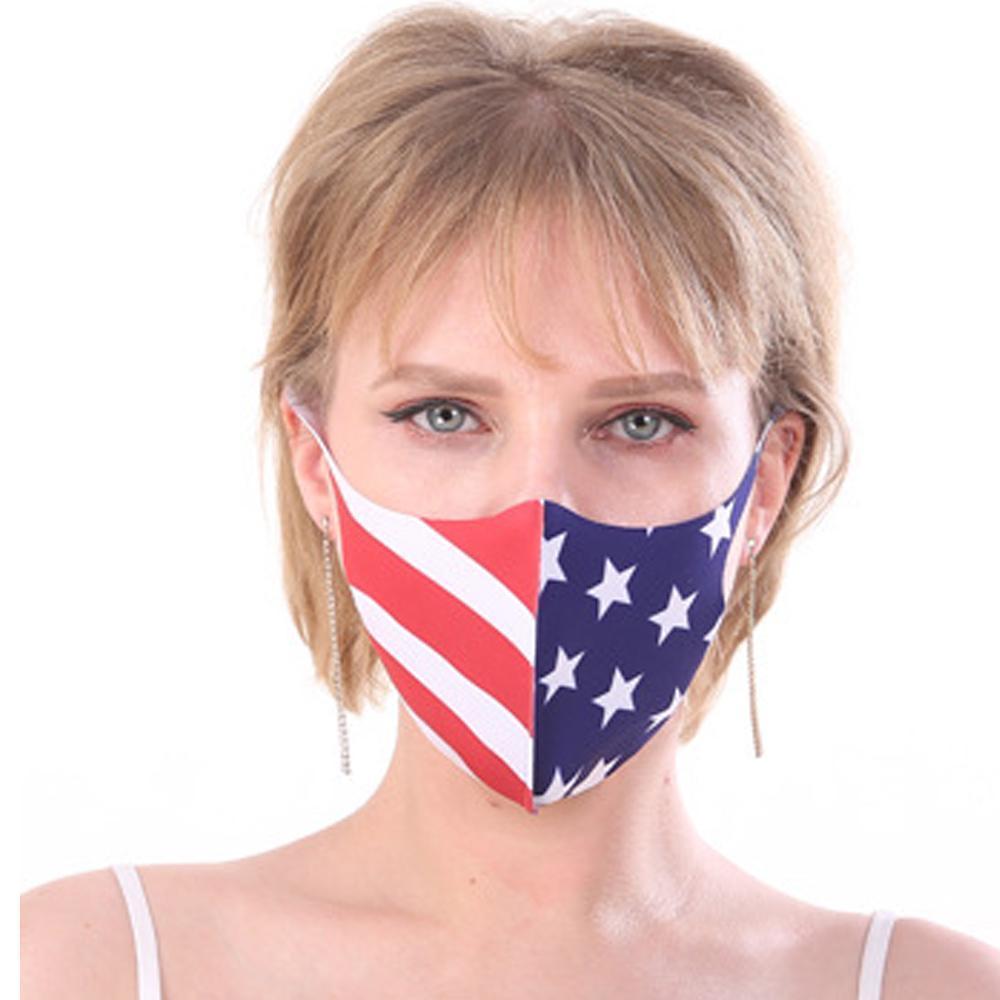 Bandeira Máscara EUA Dustproof Moda de impressão 3D Máscaras Designer cara do tecido lavável Máscara para Adultos mascarar