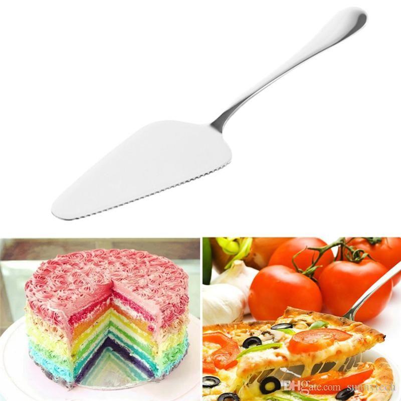 NEW Kuchen Pizza Käse Schaufel Messer Edelstahl Backen Kochen Werkzeuge oder Eiscreme-Server Western Messer Turner Divider LZ350