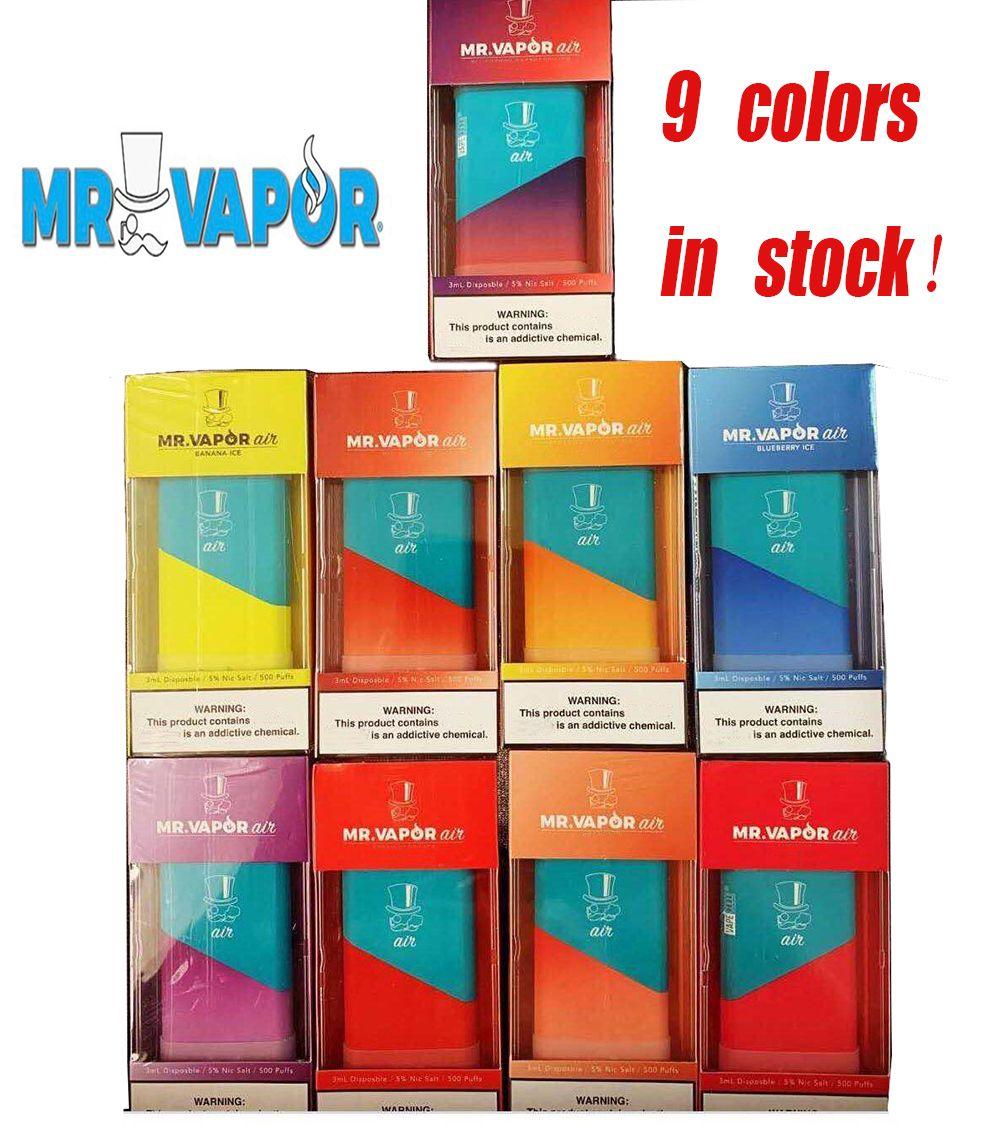 MR VAPOR AIR Einwegvorrichtung Pod Starter Kit 350mAh Batterie 3 ml Patrone Pods 500 Puff Vape Pen VS Xtra puff puff Flow-Plus-