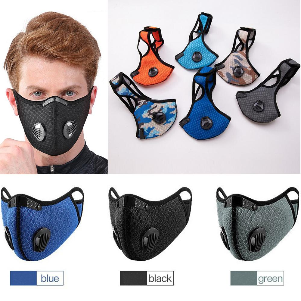 Activated Carbon Biking Mask Outdoor Running Mouth Cover Anti-fog Men Women Adults Protective Face Mask Bicycle Dustproof Sports for Jogging