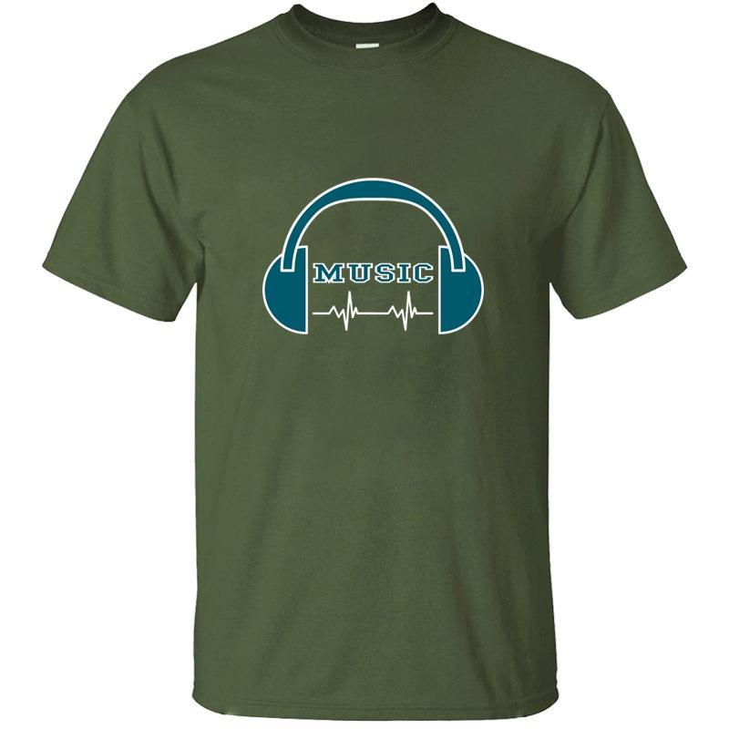 Мода наушники Музыка Tshirt Письмо Веселой Мужская Harajuku Мужчины и Женщины T Рубашки Плюс Размер S-5xl высокого качества