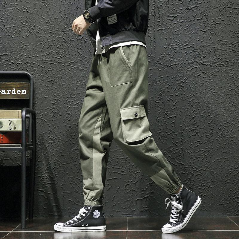 BIB В целом Мужская мода осень Beam ноги Спорт шаровары корейский стиль Trend Сыпучие-Fit Versatile совместные повседневные брюки мужские