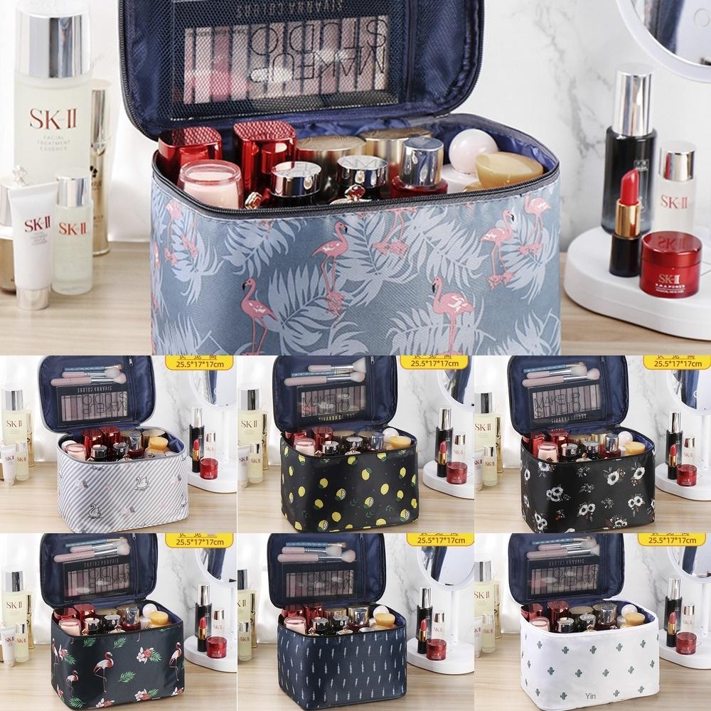 Très grand stockage cosmétique cosmétiques portables grand sac capacité de stockage sac de soins de la peau débarbouillette portables étanches ins super chaud