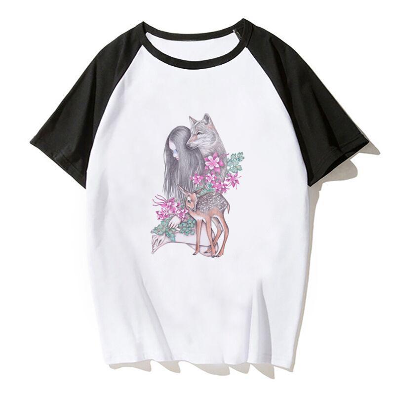 Лесной странник Футболка лета женщин T-Shirt Мальчик печати Мужская футболка футболка Марка одежда Топы Тис