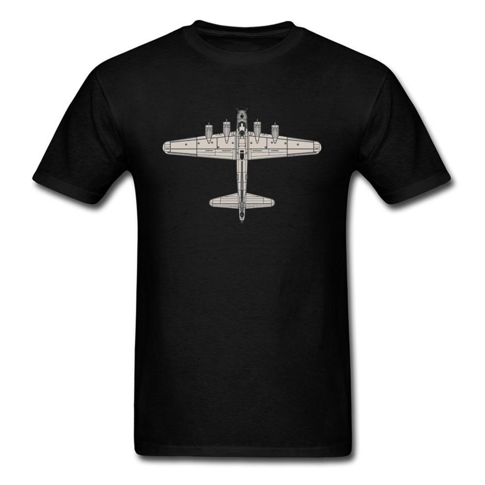 Ver T-Shirt You! Boeing B-17 Flying Fortress Aircraft Máquina Homens T shirt simples do Pai Estilo Cotton T-shirts Oversized Moda