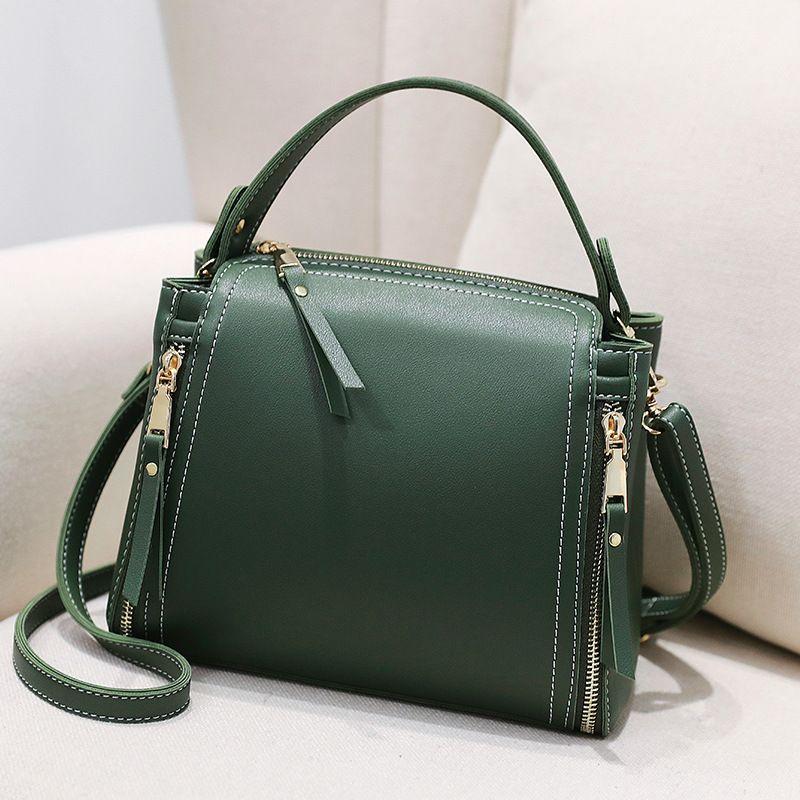 Роскошные кожаные сумки Женщины моды Малый Ковш Crossbody Сумки 2020 Женский Черный Зеленый Сумка Сумочка Женщины Повседневная Сумка Сумки