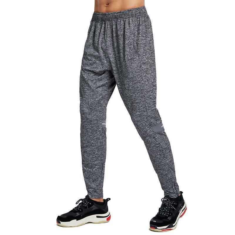 2020 Lauf lange Hosen Männer Breathable Art und Weise Workout Trainingshose Sport Jogging Jogginghose Fitness Hose-Reißverschluss
