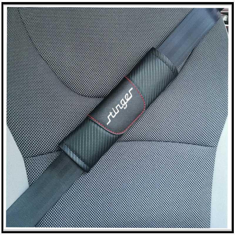Für Kia Stinger Carbon-Faser-Leder-Auto Gurtpolster Sitz Schultergurt-Auflage-Abdeckung für Erwachsene Kinder