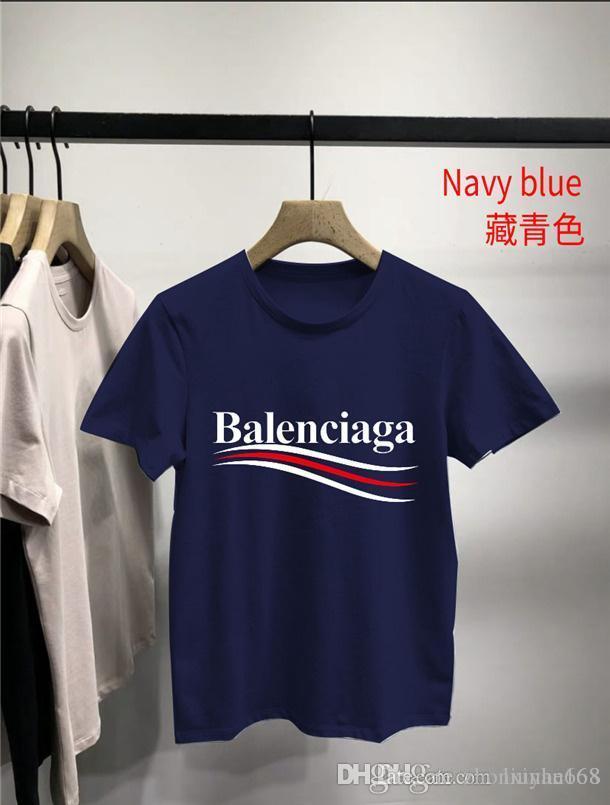 B̴alenciaga mens designer t shirts Print T-Shirts Short Sleeve Tshirt Designer Tees Males Fashion Loose Streetwear Tees Tops
