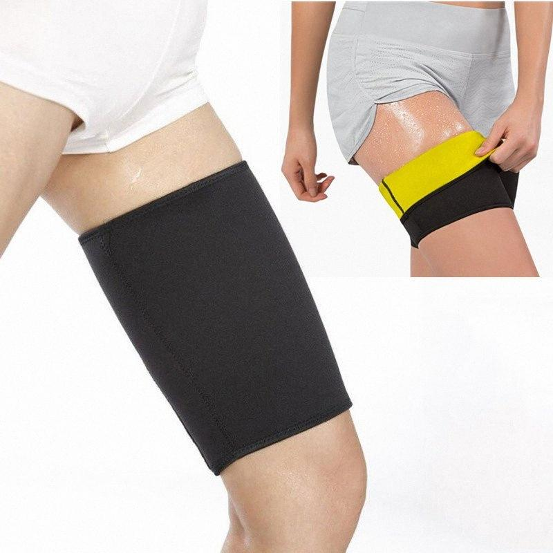 Hot Thermo Thighs Shaper, Slimming Compression Leg Wrap, Ultra-Thin Elastic Neoprene Sleeve, Best Workout Sweat Sauna Suit PRYm#
