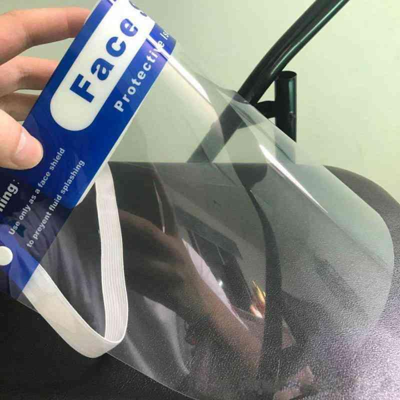 보호 얼굴 방패 입 헬멧 보호대 안전 안티 - 안개 침 먼지 침 HD PET 쉴드 UPS는 7 일 48 시간 배송을 제공