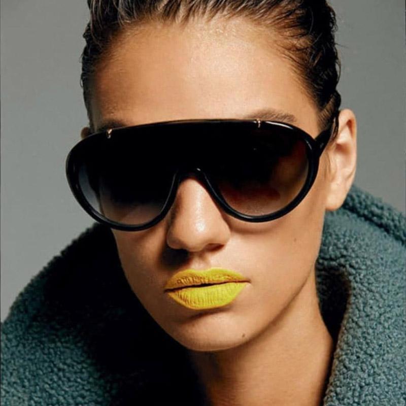 Büyük Boy Güneş gözlüğü Kadın Marka Tasarımcı Gradyan Güneş gözlüğü Kadınlar Erkekler Büyük Çerçeve Shades Noktası Açık Gözlük