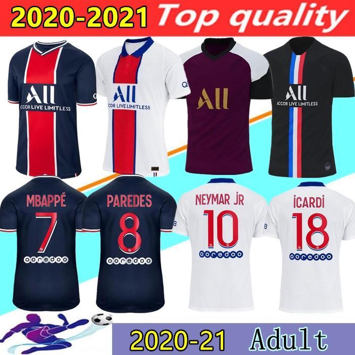 20/21 maillots de foot MBAPPE soccer jersey ICARDI top thailand 2020 2021 paris football shirt CAVANI VERRATTI Camiseta de futbol size S-2XL