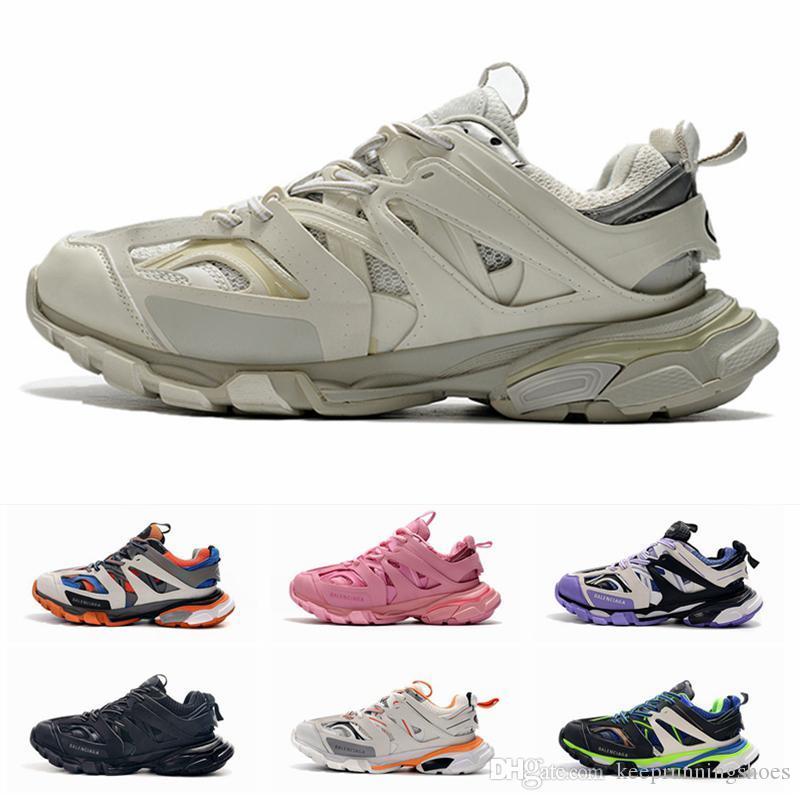 20SS Новой Тройной Дорожка chaussures balenciaga 3.0 Mens женщин Роскошная кроссовки Тройной Белый Розовый Повседневный Платформа Открытый обувь Спортивные тренажеры размер 36-45