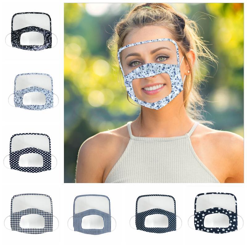 Deaf Mute Masque transparent anti-poussière visage yeux Bouclier Couverture adulte Réutilisable Masques visage clair YYA278 de 60pcs