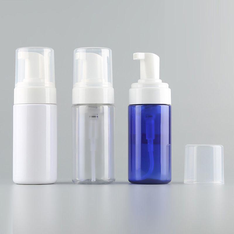 100ML 3.4OZ من البلاستيك الشفاف رغوي الصابون السائل مضخة زجاجة حجم سفر إفراغ موس رغوي الصابون لمستحضرات التجميل منظف الوجه