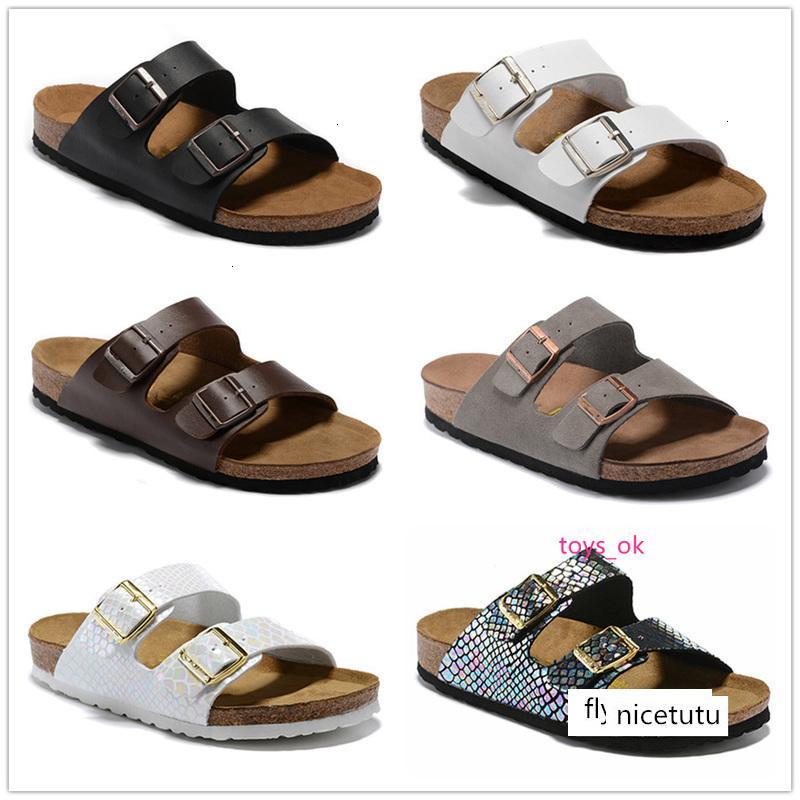 Arizona Summer Beach Cork Slipper Tongs Sandales femme couleurs mélangées Chaussures Slides Casual Flat gratuit US3-15